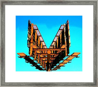 Behind Billboards Framed Print by Randall Weidner
