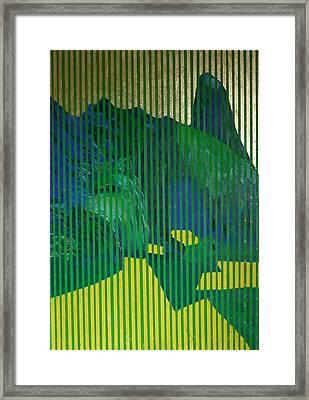 Behind The Blinds Framed Print by Jarle Rosseland
