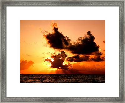 Behind The Clouds Framed Print by Jonathan Lagace