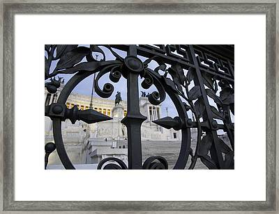 Behind The Gate... Framed Print by Roberto Patrizi