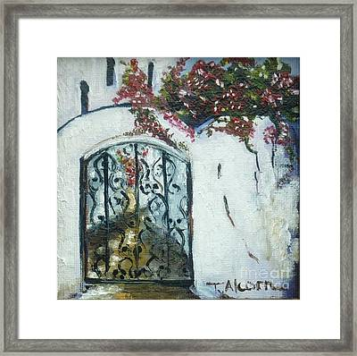 Behind The Iron Gate Framed Print by Therese Alcorn