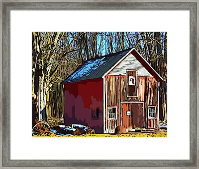 Behind The Old Factory Framed Print by MJ Olsen