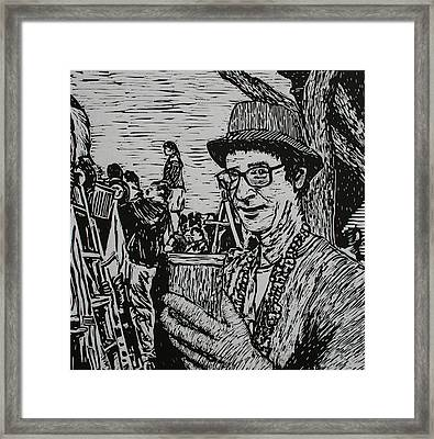 Behind The Parade Framed Print by William Cauthern