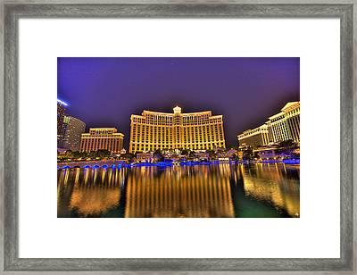 Belagio Las Vegas Framed Print by Nicholas  Grunas