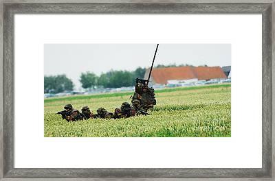 Belgian Paracommandos Entering Framed Print by Luc De Jaeger