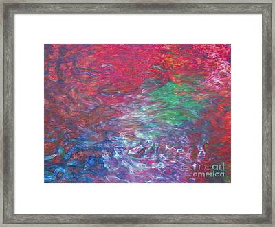 Belief In Cool Fire Framed Print by Sybil Staples