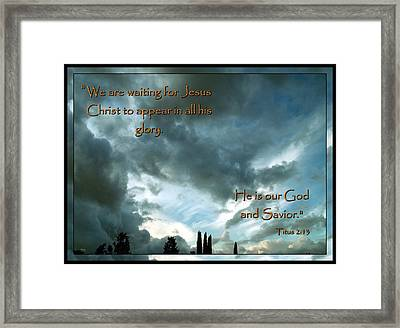 Believers Creed Framed Print by Glenn McCarthy Art and Photography
