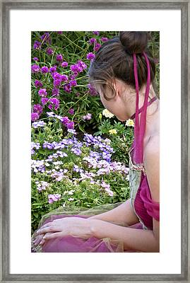 Belle In The Garden Framed Print by Angelina Vick