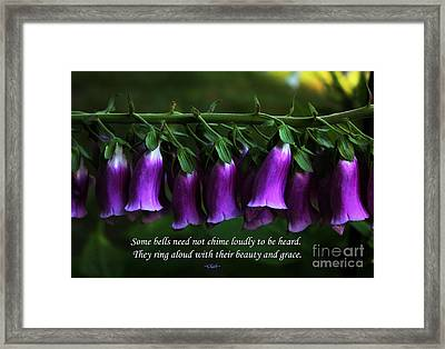 Bells Of Spring Framed Print by Olahs Photography