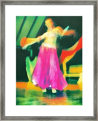 Belly Dancer Framed Print by Odon Czintos
