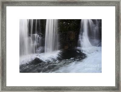 Below The Falls Framed Print by Bob Christopher