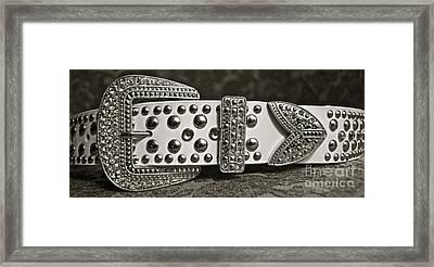 Belt Bling Framed Print by Gwyn Newcombe