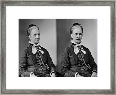 Belva Lockwood, Lawyer, Suffragist Framed Print by Everett