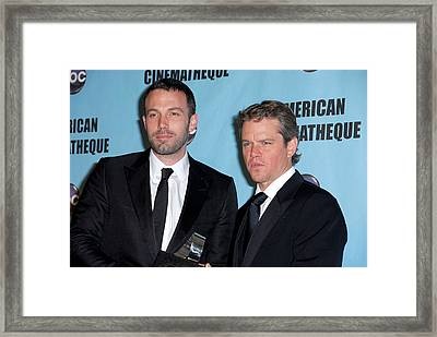 Ben Affleck, Matt Damon In Attendance Framed Print by Everett