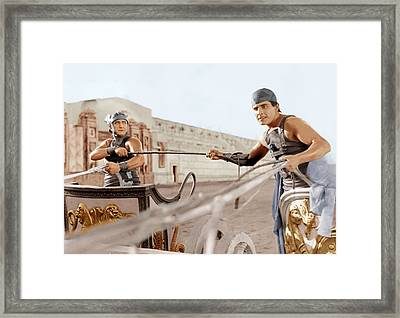 Ben-hur, From Left Francis X. Bushman Framed Print by Everett