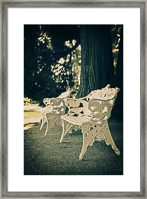 Benches Framed Print by Joana Kruse