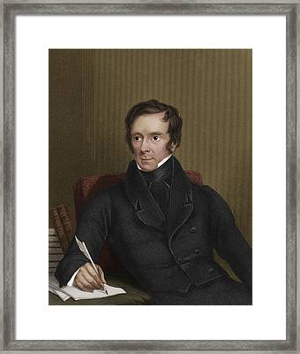 Benjamin Collins Brodie, English Chemist Framed Print by Maria Platt-evans