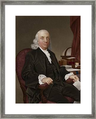 Benjamin Franklin, American Polymath Framed Print by Maria Platt-evans