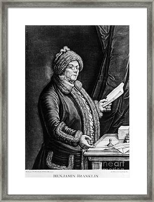 Benjamin Franklin, American Polymath Framed Print by Omikron