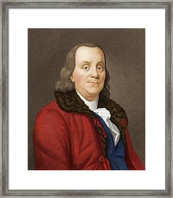 Benjamin Franklin, American Scientist Framed Print by Maria Platt-evans