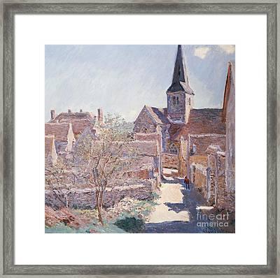 Bennecourt Framed Print by Claude Monet
