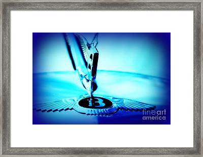Bentley Hood Ornament Framed Print by Susanne Van Hulst