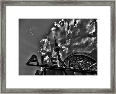 Berlin Alexanderplatz Framed Print by Juergen Weiss