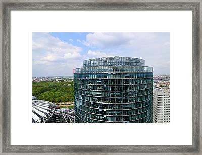 Berlin Bahn Tower Potsdamer Platz Square Framed Print by Matthias Hauser