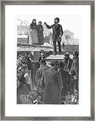 Berlin: Sermon On Barge Framed Print by Granger