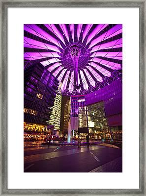 Berlin Sony Center Framed Print by Mike Reid