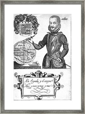 Bernard De Vargas Machuca Spanish Explore Framed Print by Middle Temple Library