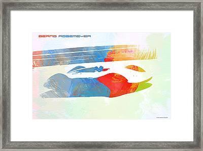 Bernd Rosemeyer Framed Print by Naxart Studio