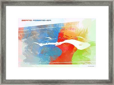 Bernd Rosemeyer Racing Framed Print by Naxart Studio