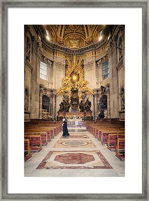 Bernini Masterpiece Framed Print by Joan Carroll