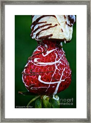 Berry Banana Kabob Framed Print by Susan Herber