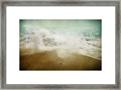Beside The Sea I Framed Print by Sharon Johnstone