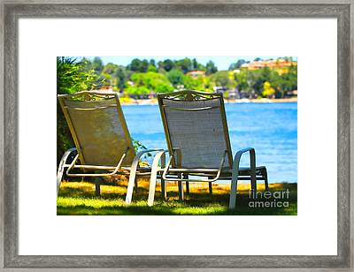 Best Seats On The Island 2 Framed Print by Cheryl Young