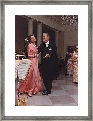 Betty Ford And Vp-designate Nelson Framed Print by Everett