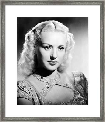 Betty Grable, 1947 Framed Print by Everett