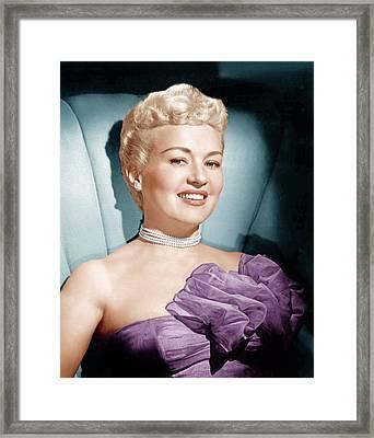 Betty Grable, Ca. 1950s Framed Print by Everett