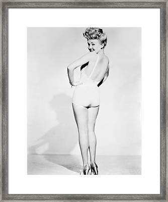 Betty Grable, World War II Pin-up Framed Print by Everett
