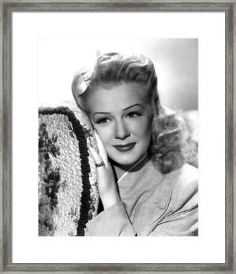 Betty Hutton, Ca. Mid-1940s Framed Print by Everett