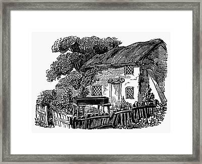 Bewick: Rural House Framed Print by Granger