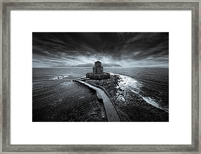 Beyond The Sea There Is A Small Prison Framed Print by Stavros Argyropoulos