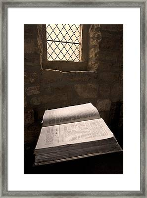 Bible In A Church, Rosedale, North Framed Print by John Short