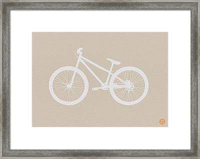 Bicycle Brown Poster Framed Print by Naxart Studio