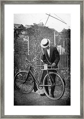 Bicycle Radio Antenna, 1914 Framed Print by