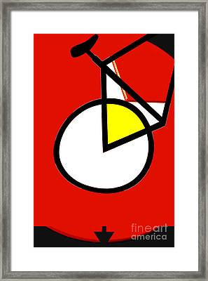 Bicycle Teen Sports Licensing Art Framed Print by Anahi DeCanio