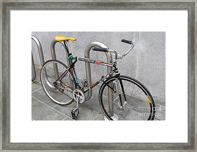 Bicycle With Stickers Framed Print by Wingsdomain Art and Photography