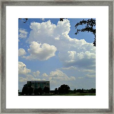 Big Bang What? #creation #clouds #sky Framed Print by Kel Hill